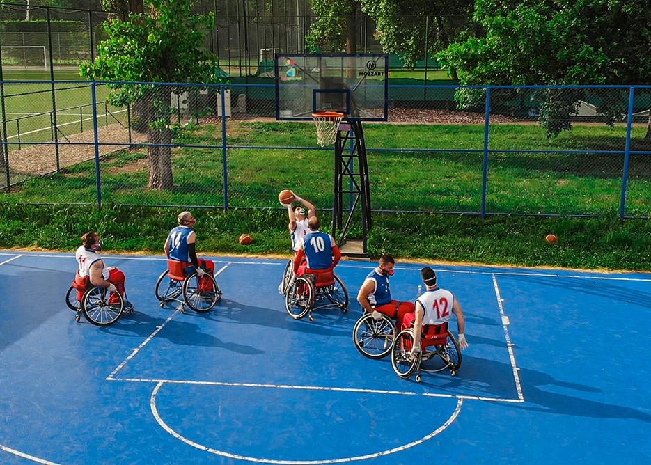 Košarkaši u kolicima na Adi