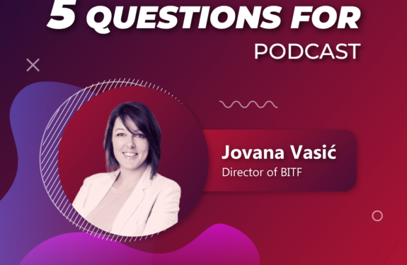 5 questions for... Jovana Vasic